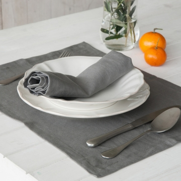 Costa Nova Porto Place Mats Set Of 2 - Grey