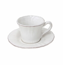 Costa Nova Village Coffee Cups & Saucers Set Of 6 - White