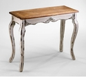 Cotswold Antique White Wood Console Table by Cyan Design