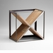 Cube Iron and Wood Wine Holder by Cyan Design