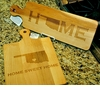 "Custom Maple Wood Artisan Bread Cutting Board ""Home"" State Pride Gift"