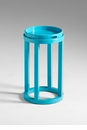 Cyan Blue Round Side Table by Cyan Design