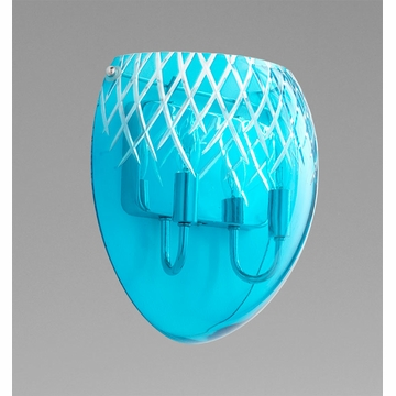 Cyan Design 2 Light Blue Etched Sconce