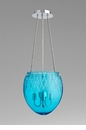 Cyan Design 3 Light Blue Etched Pendant
