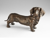 Dacshund Bronzed Iron Sculpture by Cyan Design