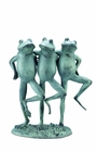 Dancing Frog Trio Sculpture by SPI Home