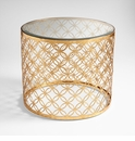Dante Gold Table by Cyan Design