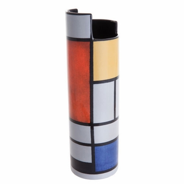 Dartington Mondrian Composition With Large Red Plane Ceramic Vase