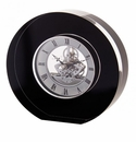 Dartington Round Black Clock