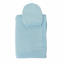 Darzzi Baby Blue Natural Snuggle Baby Blanket & Beanie Set