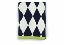 Darzzi Baby Diamonds Navy Baby Blanket