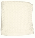 Darzzi Cable Knit Baby Blanket Ivory
