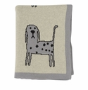 Darzzi Light Grey Natural Marled Black Whiskers Baby Blanket