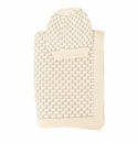 Darzzi Natural Light Grey Snuggle Baby Blanket & Beanie Set
