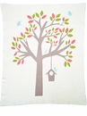 Darzzi Nursery Tree Natural Blue Baby Blanket