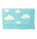 Darzzi Robin Egg Blue Natural Soft Clouds Baby Blanket