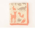 Darzzi Woodland Animals Baby Blanket Coral