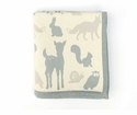 Darzzi Woodland Animals Baby Blanket Grey