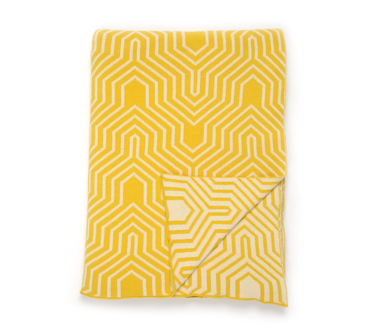 Darzzi Yellow Natural Throw Blanket 50x60