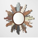 Davenport Wood Sunburst Wall Mirror by Cyan Design