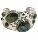 David Jeffery Cuff - Silver With Labradorite