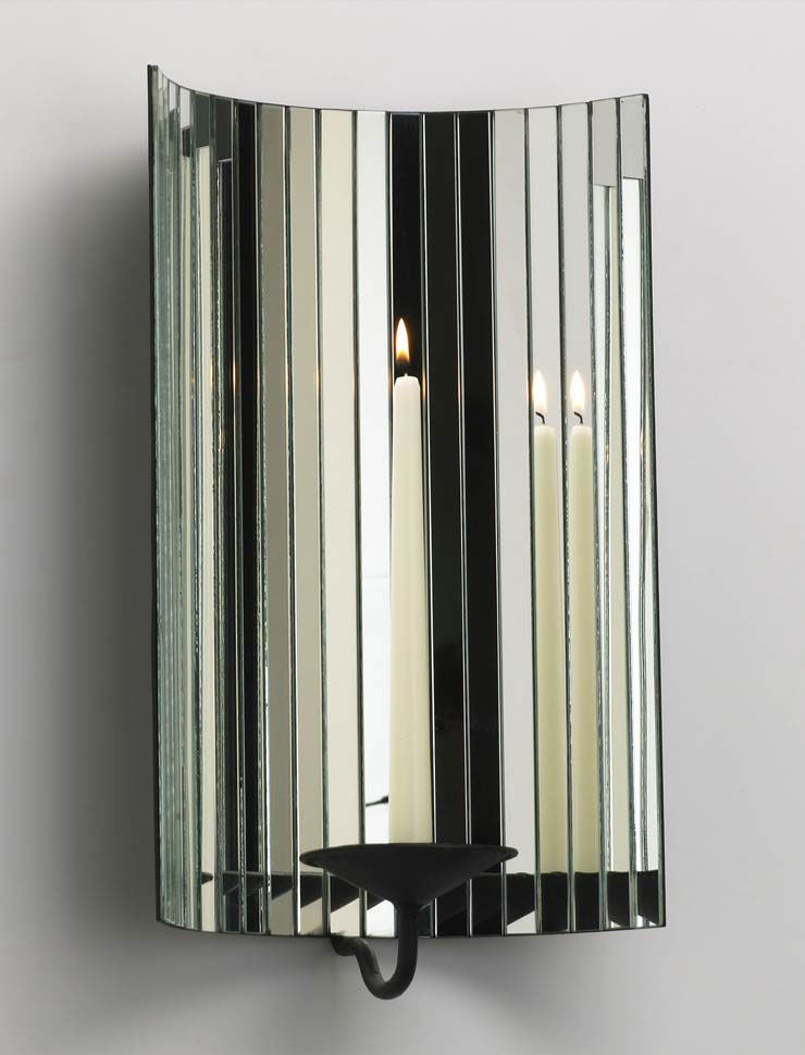 Mirrored Wall Sconces Candle Holder : Dazzling Mirror Wall Mount Candleholder by Cyan Design
