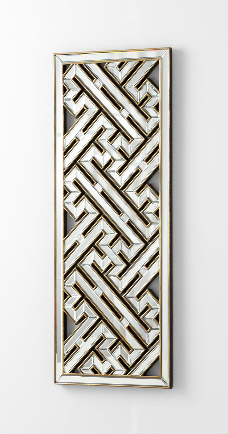 Deco maze long wall mirror by cyan design for Long wall hanging mirrors