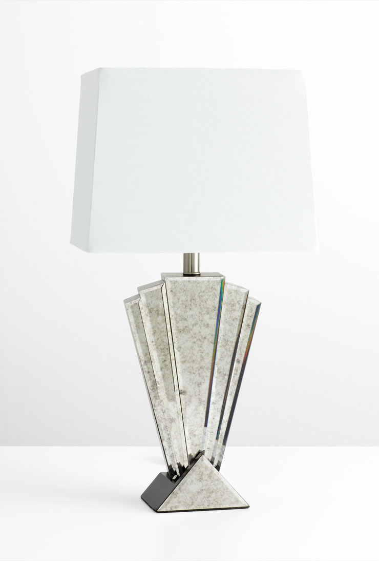 deco reflections modern glass table lamp by cyan design