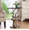 Deer Bust End Table by SPI Home