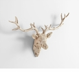 Deer Head White Plaster Wall Decor by Cyan Design