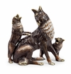 Desert Howlers Coyote And Cub Sculpture by SPI Home