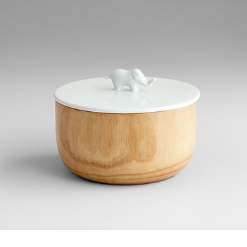 Designer Wood Elephant Container by Cyan Design