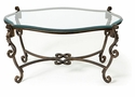 Dessau Home Acanthus Leaf Coffee Table Bronze Iron