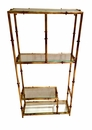 Dessau Home Antique Gold 4 Shelf Wall Curio