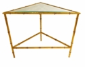 Dessau Home Antique Gold Bamboo 2 Tier Triangle Table