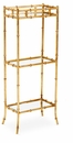 Dessau Home Antique Gold Bamboo 3 Tier Curio
