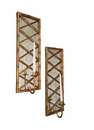Dessau Home Antique Gold Bamboo Mirrored Sconce