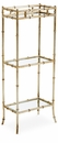 Dessau Home Antique Silver 3 Tier Curio