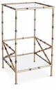 Dessau Home Antique Silver Bamboo Two Tier Accent Table