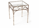 Dessau Home Antique Silver Bamboo Accent Table