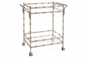 Dessau Home Antique Silver Bamboo Tea Cart