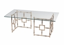 Dessau Home Antique Silver Finish Float Coffee Table
