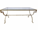Dessau Home Antique Silver Gramercy Glass Top Coffee Table