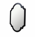 Dessau Home Antiqued Black Chippendale Mirror