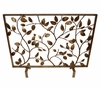 Dessau Home Antiqued Gold Bird Branch Fire screen