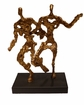 Dessau Home Antiqued Gold In Motion Sculpture