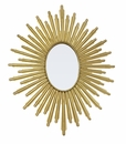 Dessau Home Antiqued Gold Oval Starburst Mirror
