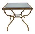 Dessau Home Antiqued Gold Quatrefoil Nest Table