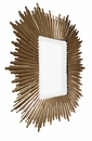 Dessau Home Antiqued Gold Square Sunburst Mirror