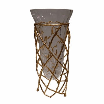 Dessau Home Antiqued Gold Twig Vase
